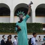 反送中》數萬人赴美國駐港領事館,舉星條旗籲制裁香港官員:中共現在最害怕的是美國!