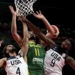 世界盃男籃》進攻多點開花擊潰巴西 美國攜手捷克闖8強