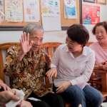 水湳市場活招牌 盧秀燕訪百歲人瑞盛讚「台中的寶貝」