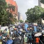 率民進黨一級主管、立委參與挺港遊行 卓榮泰:沒有任何統治者能剝奪民主自由!