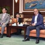 葉匡時主持商圈理事長座談會 日本富山縣冰見市長拜訪