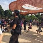 鶯歌永吉公園蝴蝶鞦韆、魔豆造型旋轉溜滑梯啟用 加拿大電視台搶拍