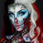 萬聖節到了,臉上的妝何不這樣畫:模糊了美與恐怖邊界的魔幻妝容