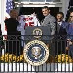 MLB》接見世界大賽冠軍國民 川普:美國最愛談論棒球與彈劾