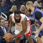 NBA》「大鬍子」哈登瘋狂表現 54分7助攻破魔術