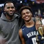NBA》看兒子打球回憶起高中時期 詹姆斯:絕對是我一生中最棒的時刻