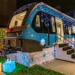 三鶯線原型模型車變雪橇 點亮新北耶誕城