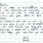 美國7歲男童飽受家暴,寫信向耶誕老人許願:「我想要一個非常非常好的爸爸」