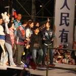 韓國瑜選前之夜神秘嘉賓現身 陳樹菊登台高喊「明君凍蒜!韓國瑜凍蒜!」