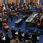 百名參議員鄭重宣誓「依據憲法公正審判」,美國聯邦參議院21日開審川普!