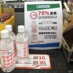 1人限購1瓶!台糖推75%平價防疫酒精 今日起全家便利商店開賣