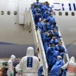 湖北類包機載回153乘客 完成檢查分批前往檢疫所