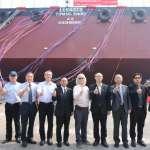 臺灣港務港勤股份有限公司新造140m非自航式平台駁船 今舉行下水典禮