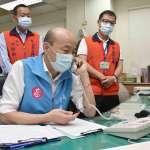 聲請停止罷韓後 韓國瑜視察鳳山防疫、致電居家隔離者重拾民心