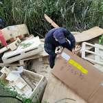 新北民、警、環三方協力 速破搬家業者非法棄置廢棄物