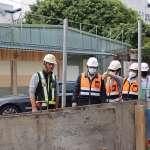 捷運三鶯線鋪設軌道示範段 改善鶯桃路排水設管涵