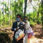 美麗的大愛!因疫情取消婚禮 斯里蘭卡新婚夫婦改為賑濟窮人