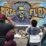 遭警方壓頸斷氣的198公分「溫柔巨人」 民眾齊聚案發現場巨幅壁畫前悼念