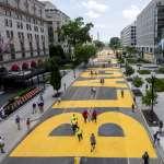 美國首都新地標「黑人的命也是命!」華府市長槓上川普,白宮外道路漆醒目黃字