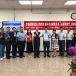 強化校園防疫 業者贈「自動測溫門」給中市10所學校