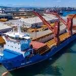 海能離岸風力發電 首批水下基樁抵台