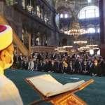 聖索菲亞「清真寺」回歸!上千信眾湧入首場禮拜 「白布遮掩」基督教人像畫