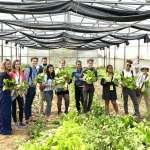 廉能市政參訪  國際學生大啖有機蔬菜