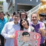 選戰倒數!陳其邁第一選區衝刺 民眾舉看板打氣表支持