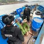 馬祖海巡隊扣中國越界漁船 20公斤漁獲全部海拋