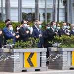 李登輝出殯車隊繞行總統府 李大維率隊敬禮致意