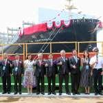 陽明海運新一代綠色船舶 台船公司替2,800 TEU級命名