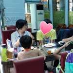 王惠美與擔任監護人的孩子 參與暑期農場體驗活動