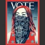 1923年創刊來頭一遭!《時代》雜誌封面刊名改成VOTE,呼籲讀者行使投票權