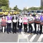 彰縣表揚模範清潔人員 舉行52部環保車輛授車