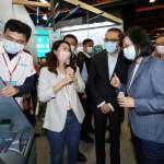 蔡英文親臨金博會  體驗中國信託「新一代ATM」,對這項功能特別感興趣