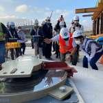新年開工首日盧秀燕親手安裝首顆「隔震器」 台中綠美圖新里程