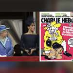 梅根遭英國女王跪頸「無法呼吸」?!封面嘲諷伊莉莎白女王,法國《查理周刊》惹眾怒