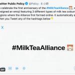「#奶茶聯盟」民主運動一週年!推特設計專屬圖案 大方PO出青天白日旗