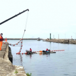 高市海洋局舉辦漂流木攔木網演練 維護漁民漁船安全