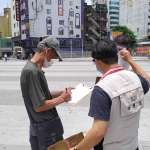 關懷街友協助防疫 中市府主動發送口罩、酒精
