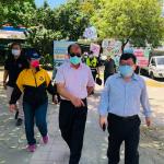 前鎮區防疫團隊走訪公園 宣導口罩戴好戴滿