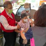 農業局長張清榮關懷長輩 視察新冠疫苗接種站