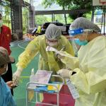 那瑪夏遇大雨積水 緊急更改至鄰近教會施打疫苗