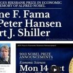2013年諾貝爾經濟學獎 資產價格專家獲表揚
