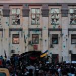 不滿俄國介入烏東 俄駐烏使館遭襲