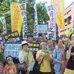 反航空城強徵民地 民團「月兔」前抗議