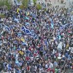 抗議報導偏頗 蘇格蘭獨派包圍BBC總部