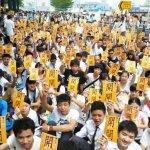 香港中學生罷課:不可以再忍下去