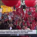 經濟復甦仍不加薪 9萬英人上街抗議