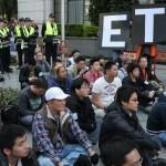 反eTag復仇者聯盟 交通部前抗議